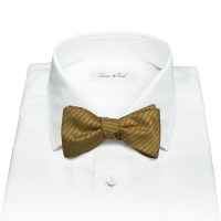 Lyst - Louise & Zaid Moss Green Silk Bow Tie in Green for Men
