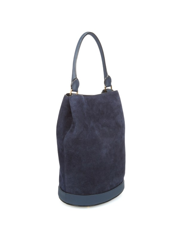 95a170cbd5 Burberry Prorsum Suede And Leather Bucket Bag In Blue Lyst