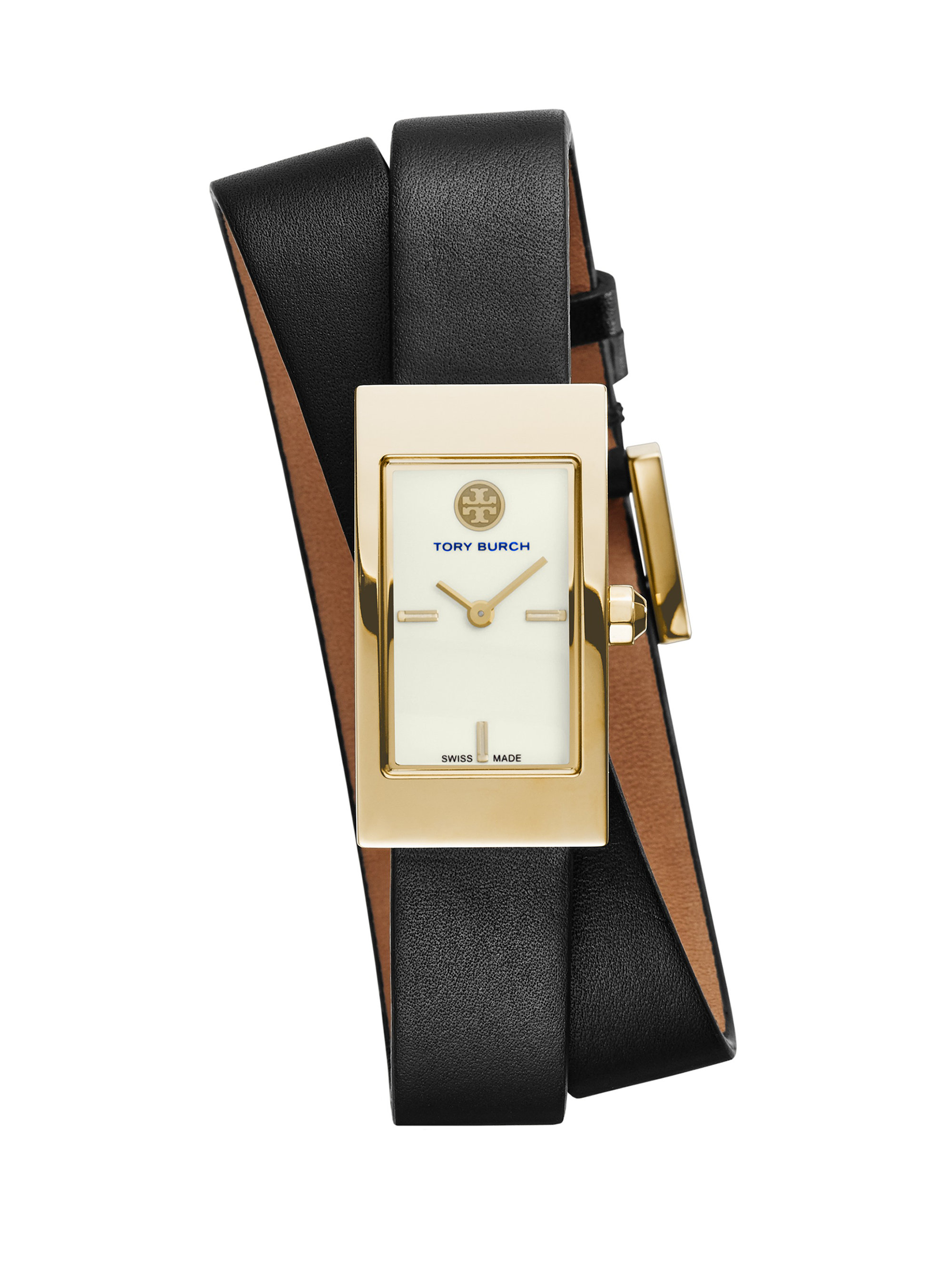 Tory Burch Buddy Signature Goldtone Stainless Steel