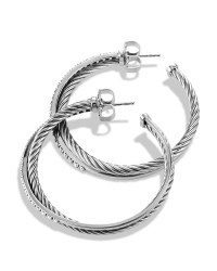 David yurman Crossover Extra Large Hoop Earrings With ...