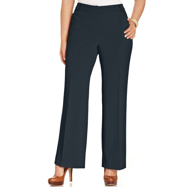 Jones York Collection Size Modern Fit Wide-leg Pants In Blue Navy Lyst