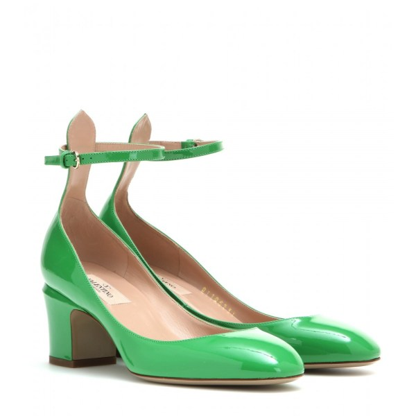 Valentino Tango Patent Leather Pumps In Green Lyst