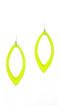 Alexis Bittar Marquis Frame Dangle Earrings Neon Yellow in