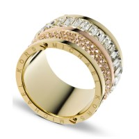 Michael Kors Gold-Tone Pave And Stone Barrel Ring in Gold ...