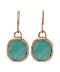 Monica vinader Rose Gold-plated Amazonite Siren Wire ...