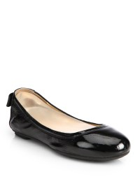 Cole haan Manhattan Patent Leather Ballet Flats in Black ...