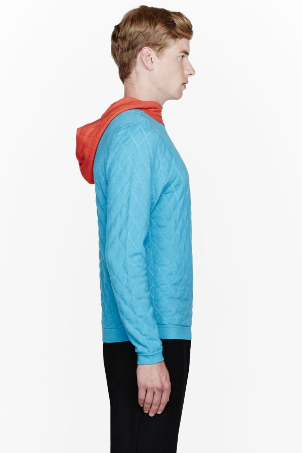 Lyst - Opening Ceremony Sky Blue Quilted Balaclava Rock Climbing Hoodie In Men