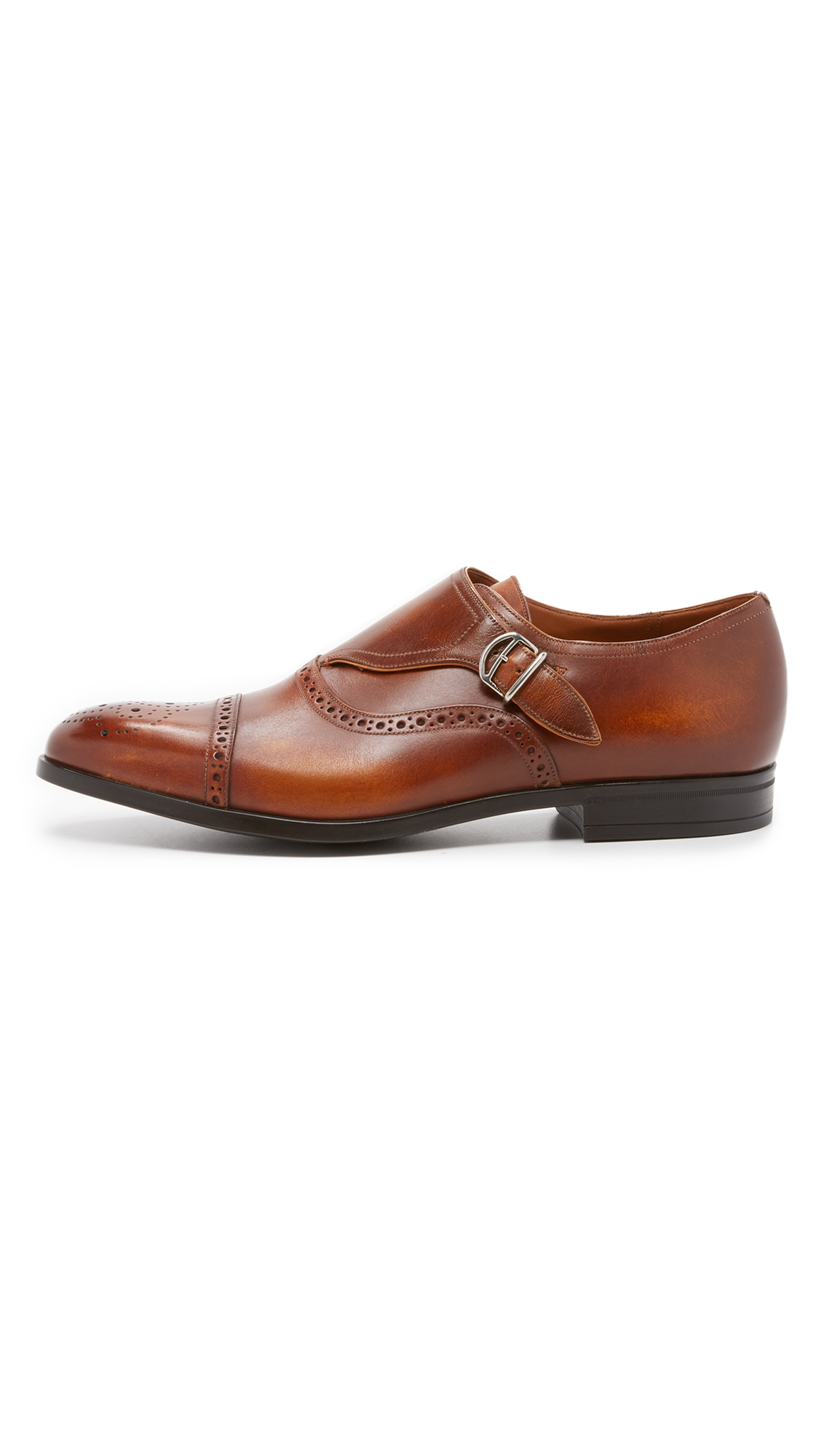 Bally Lanor Monkstrap Shoes In Brown For Men