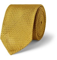 Lyst - Dunhill Mulberry Silk Tie in Yellow for Men