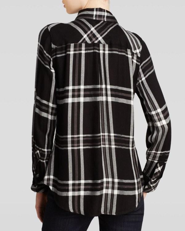 Rails Hunter Plaid Shirt In Black Grey White Lyst
