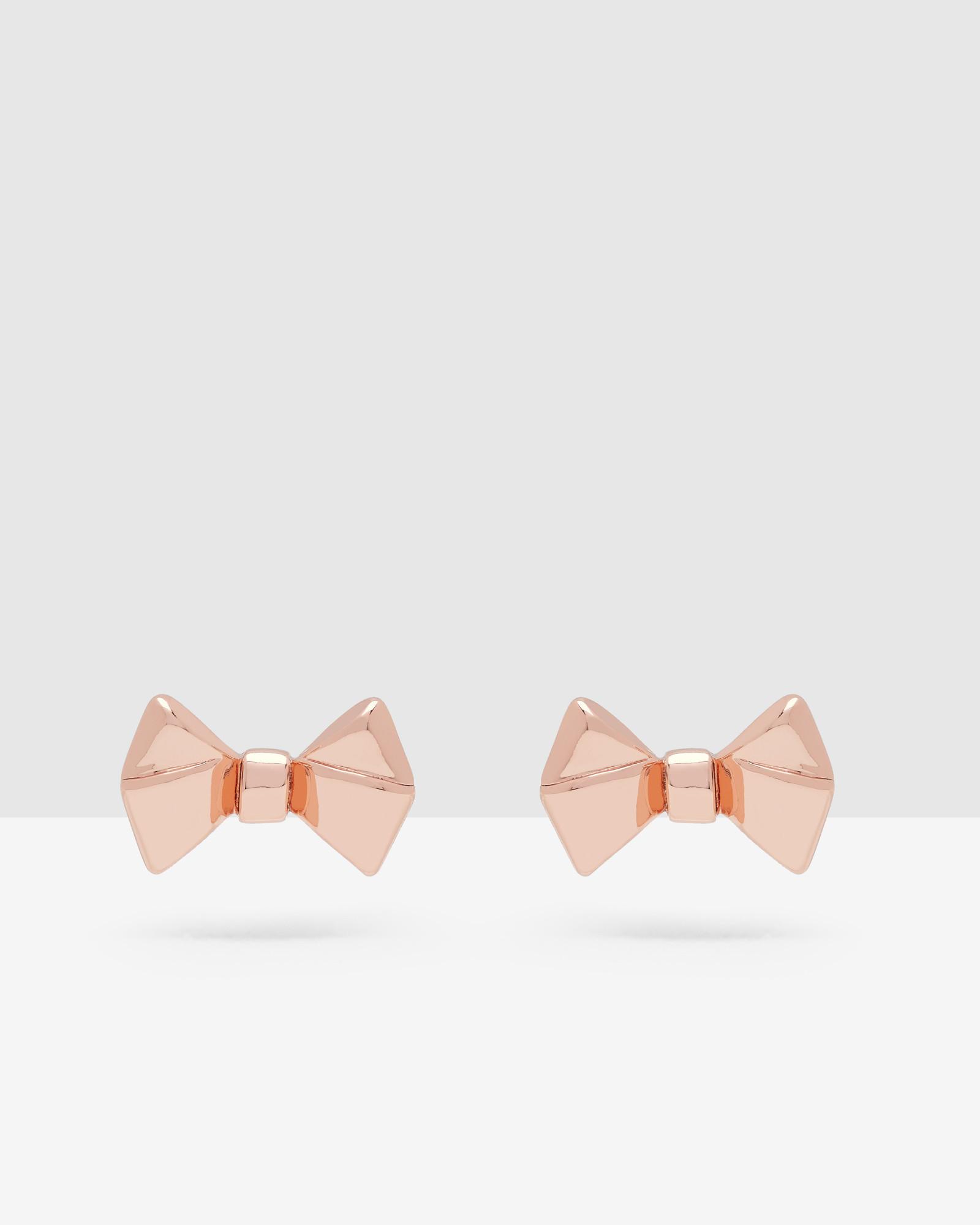Ted baker Bow Stud Earrings in Pink