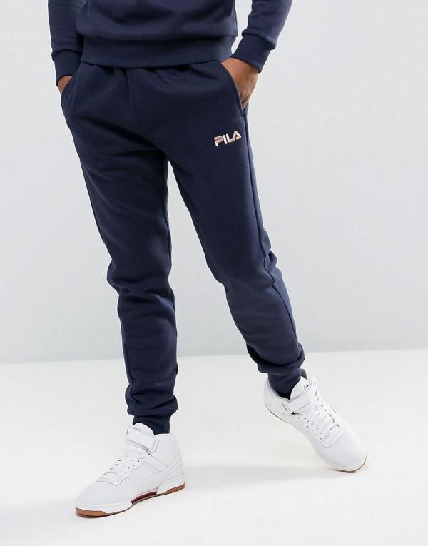 85e6ec7aa335 Lyst - Fila Skinny Joggers With Small Logo In Blue Men