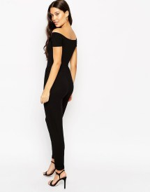 2f9aa0023b6 Lyst Asos Bardot Jersey Jumpsuit With Wide Leg In Black - imgUrl