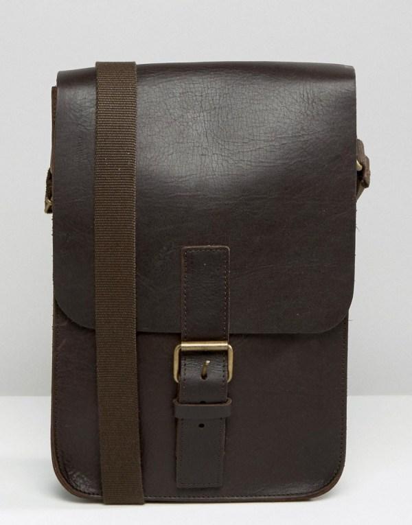 Asos In England Leather Flight Bag Multicolour