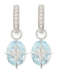Jude frances Lacey Sky Blue Topaz Earring Charms in Blue ...