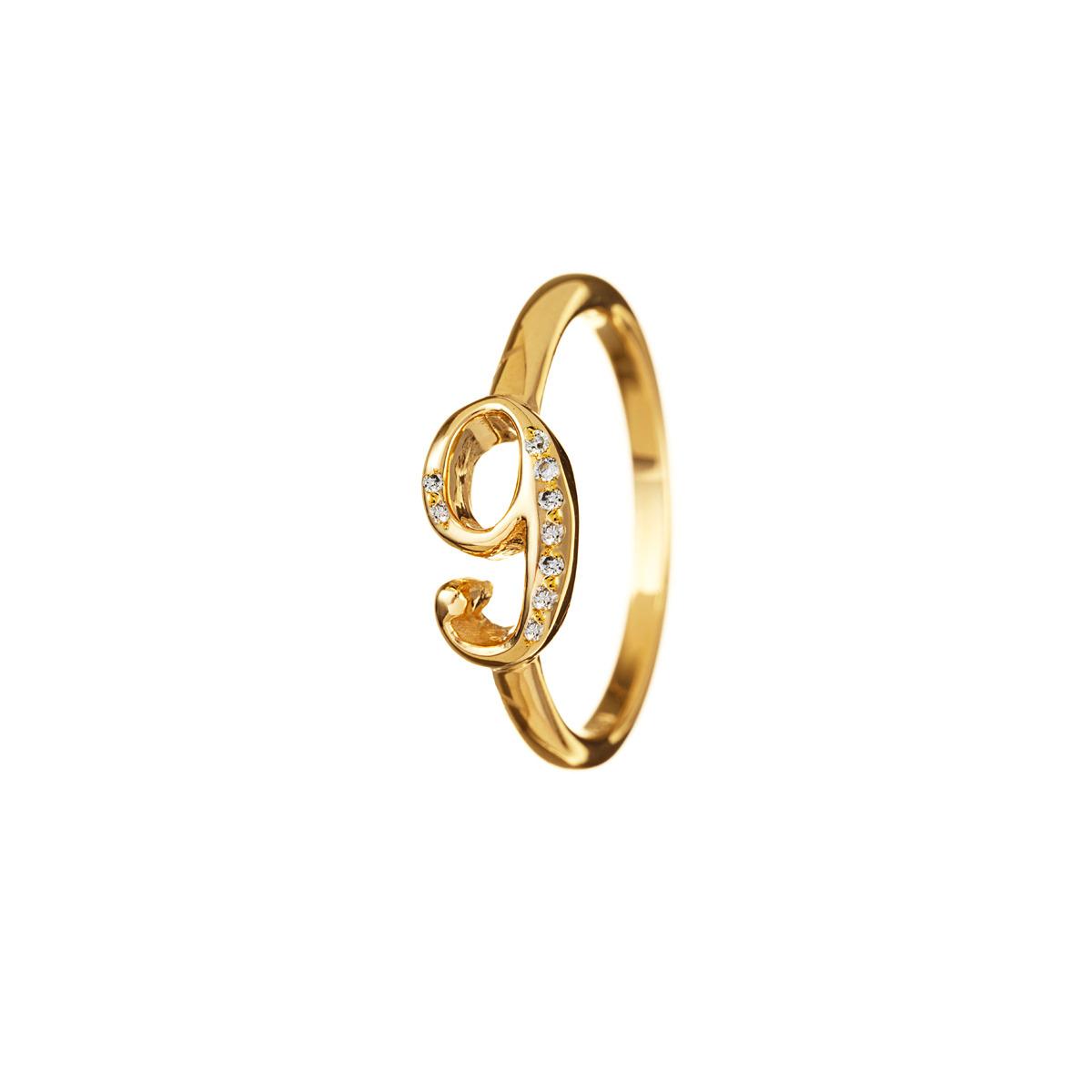 Lyst  Lulu Frost Code Number 18kt 9 Ring in Metallic
