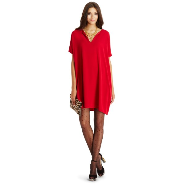 Lyst - Diane Von Furstenberg Dvf Kora Tunic Dress In Red