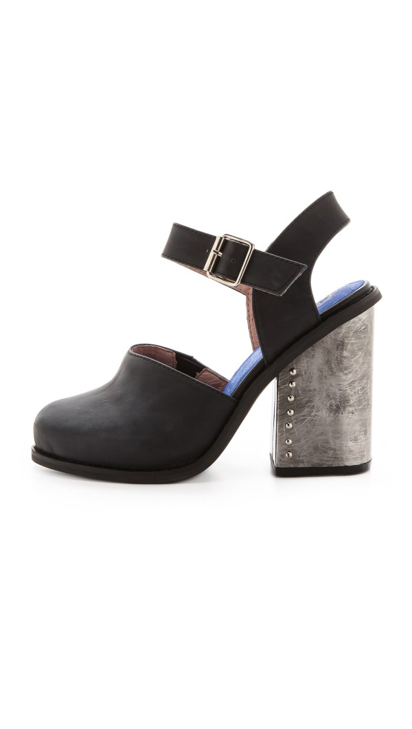Jeffrey Campbell Bonshe Chunky Heel Mary Janes Black In