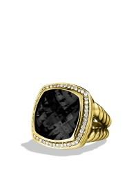 Lyst - David Yurman Albion Ring with Black Onyx Diamonds ...