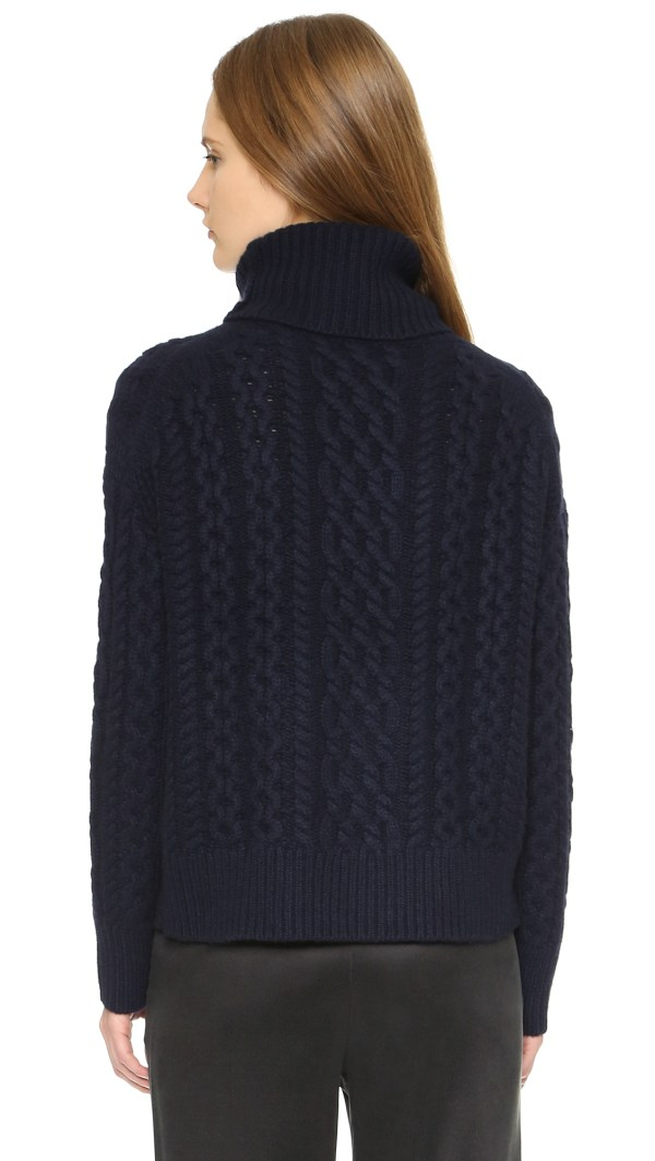 Lyst - Nili Lotan Aran Cashmere Turtleneck Sweater Dark