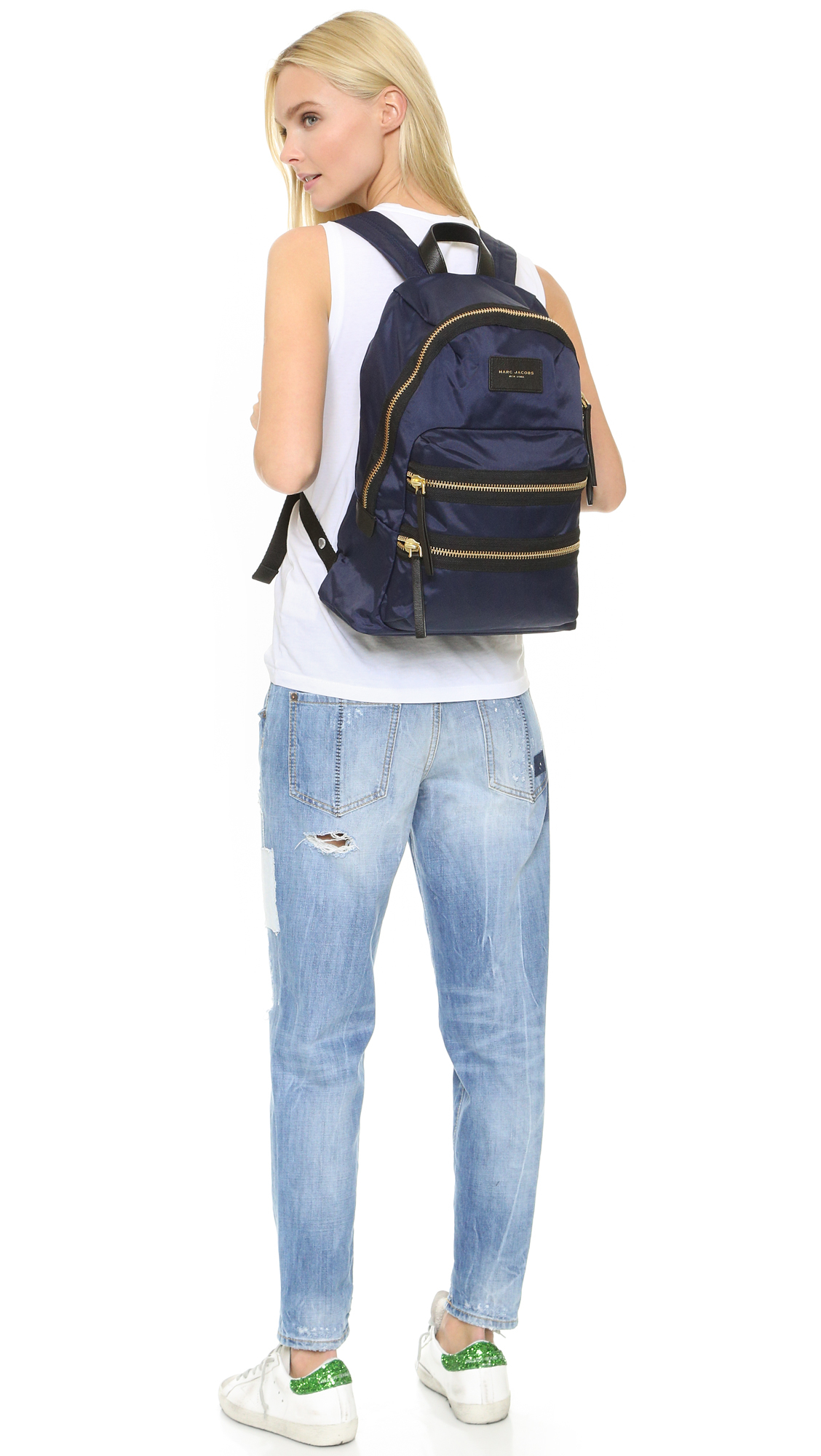 Marc jacobs Nylon Biker Backpack in Blue  Lyst