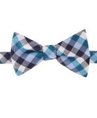 Tommy hilfiger Multi Gingham Self-Tie Bow Tie in Blue for ...