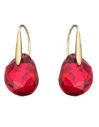 Swarovski Galet Bordeaux Crystal Drop Earrings in Red - Lyst