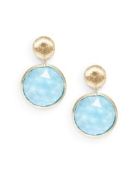 Marco Bicego Blue Topaz & 18K Gold Double Drop Earrings in