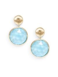 Marco Bicego Blue Topaz & 18K Gold Double Drop Earrings in ...