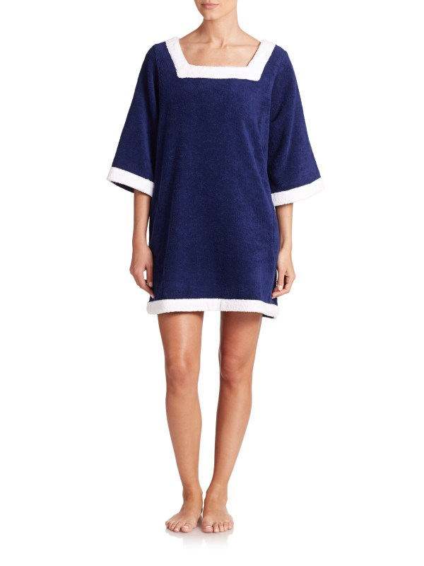 Lisa Marie Fernandez Sailor Terry Coverup In Blue Lyst