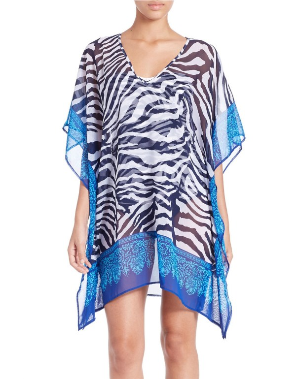 Tommy Bahama Zebraprint Coverup in Blue Lyst