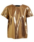 Gold Metallic Shirt Women