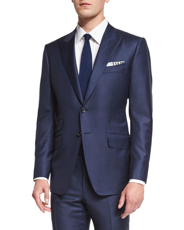 Tom Ford 'connor Cotton-blend Two-piece Suit In Blue Men Lyst