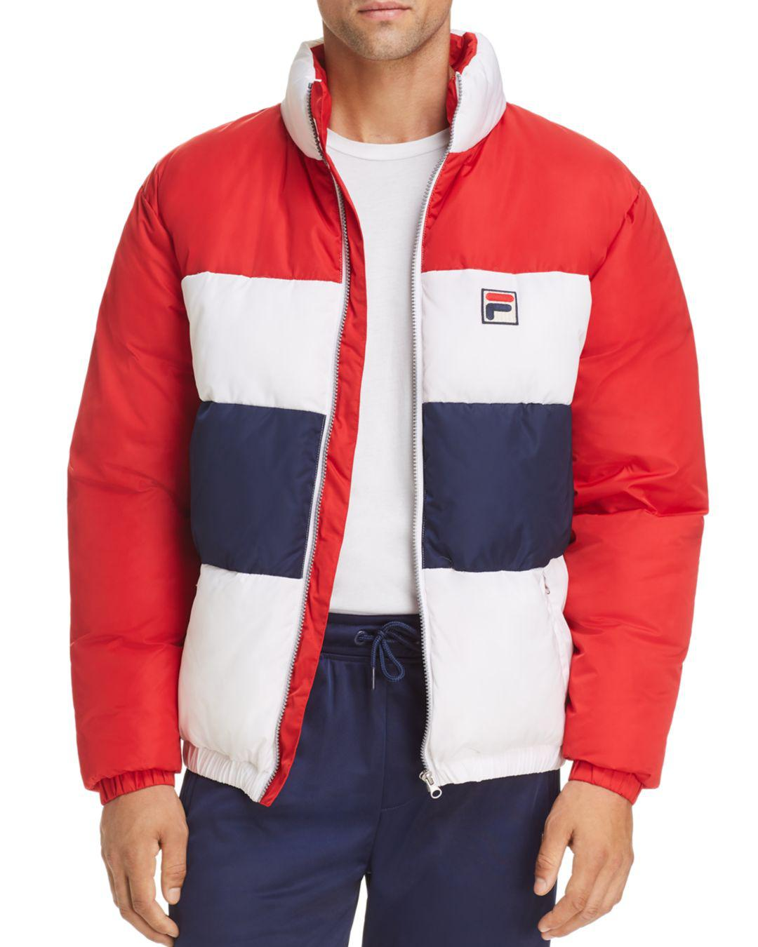 53d0440a7e7c Lyst Fila Neo Puffer Jacket In Red For Men Save 52