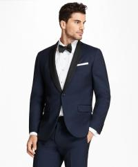 Lyst - Brooks Brothers Milano Fit Shawl Collar Navy Tuxedo ...