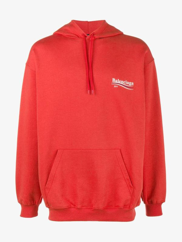 Lyst - Balenciaga Campaign Oversized Hoodie In Red Men