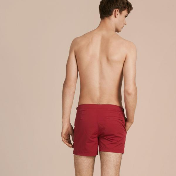 Lyst - Burberry Tailored Swim Shorts Parade In Red Men