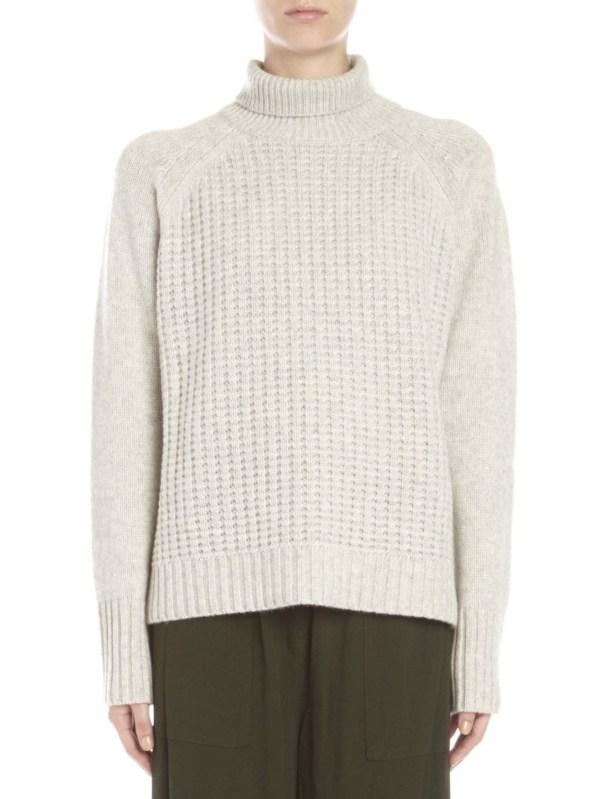 Nili Lotan Gray Cashmere Mock Neck Sweater Lyst