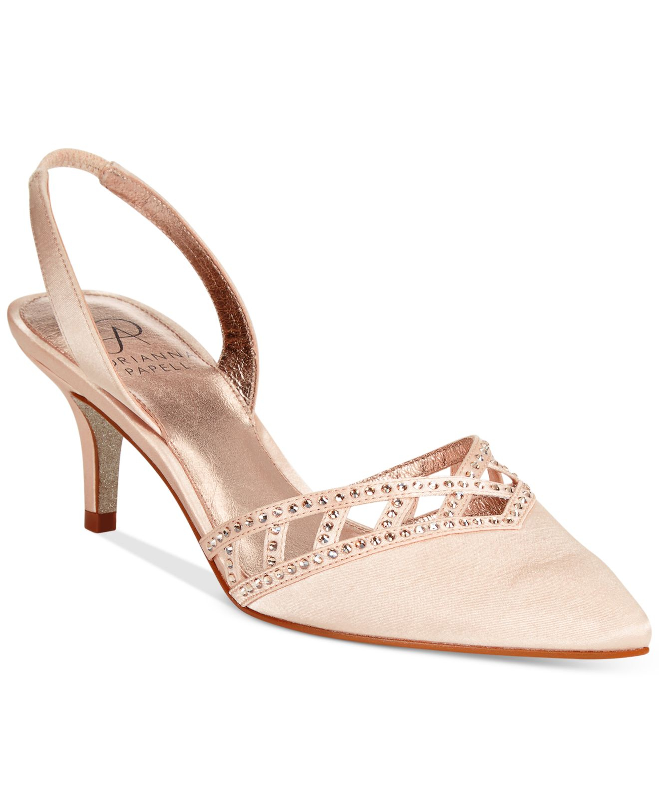 Lyst Adrianna Papell Haven Evening Pumps In Natural