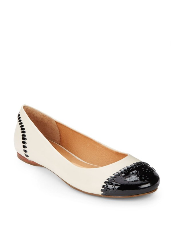 Lyst - Jack Rogers Delfino Cap-toe Leather Ballet Flats In