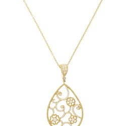 7816e2e65a92cf Penny Preville Gold Flower Necklace | Gardening: Flower and Vegetables