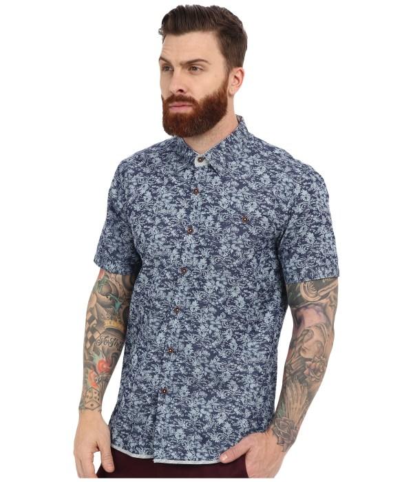 7 Diamonds Ride Short Sleeve Shirt In Blue Men
