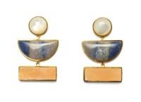 Lizzie fortunato Geometry Earrings In Gold in Gold   Lyst