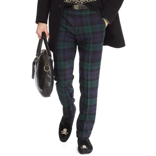 Polo Ralph Lauren Slim-fit Blackwatch Trouser In Green