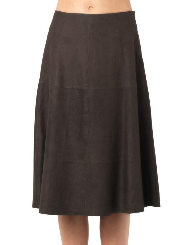 Lyst - Elizabeth And James Leather -line Skirt In Brown