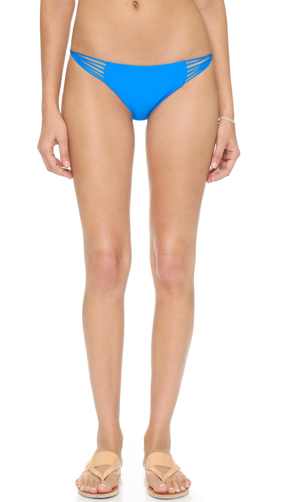 Lyst Mikoh Swimwear Lanai Bikini Bottoms In Blue