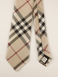 Burberry Patterned Tie in Natural for Men | Lyst