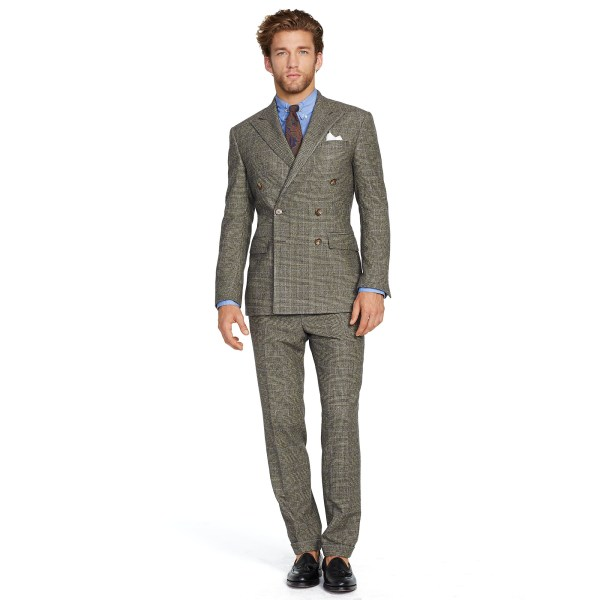 Polo Ralph Lauren Double-breasted Wool Suit In Brown Men Lyst
