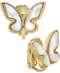 Kate spade new york 12k Gold-plated Mother-of-pearl Clip ...