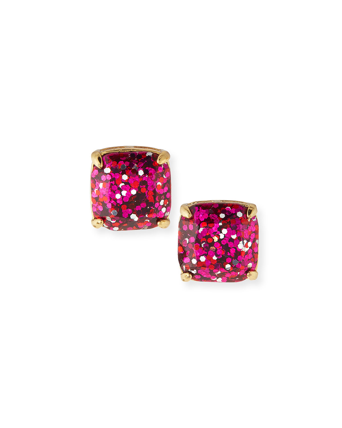 Kate spade Small Glitter Stud Earrings in Gold (PINK/GOLD